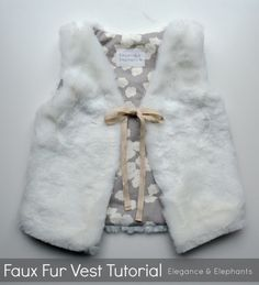 Faux Fur Vest Tutorial | ELEGANCE & ELEPHANTS