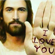 Jesus saying I love you.