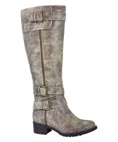 Another great find on #zulily! Vintage Stone Texas Extra Wide-Calf Boot by Intaglia #zulilyfinds