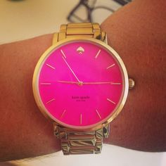 Kate Spade watch! Pretty in Pink #littleadditions #gold #pink