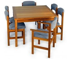 650 Vintage D Scan Danish Modern Teak Dining Set Table And Four Chairs Hom