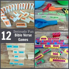 12 Seriously Fun Bible Memory Games (Perfect for home or classroom use!)|Path Through the Narrow Gate