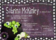Halloween Baby Shower - like the wording