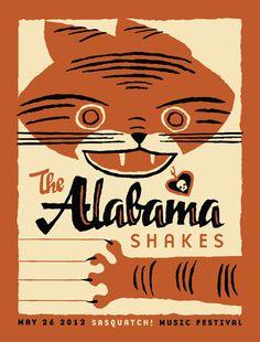 Furturtle Show Prints - THE ALABAMA SHAKES at Sasquatch! 2012 Poster