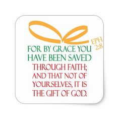 Christmas Gift Square Sticker