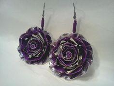 Duct Tape Flower Earrings!
