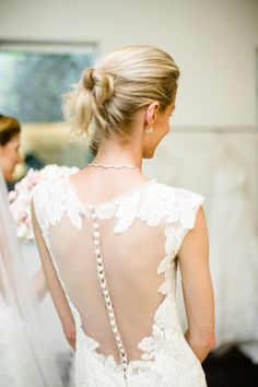 Illusion back: http://www.stylemepretty.com/california-weddings/2014/09/02/behind-the-scenes-bridal-fashion-with-carolina-herrera/ | Photography: Betsi Ewing Photography - http://betsiewing.com/