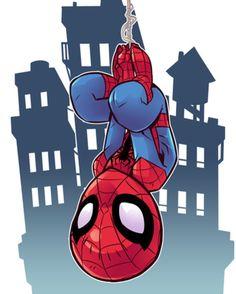 """6,580 Likes, 10 Comments - Derek Laufman (@dereklaufman) on Instagram: """"Your friendly neighbourhood Spider-Man. Drawn for MARVEL's Super Hero Adventures. #marvel…"""""""