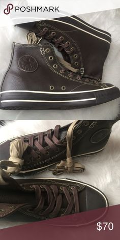 🎀24 Hour Sale🎀Converse men leather hi top shoes Brand new with box Converse Shoes Sneakers