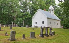 The Primitive Baptist Church in Cades Cove, TN in the Great Smokey Mtns.  I've walked through this graveyard for hours with my Daddy and Popie, as we read the stories told on the stones, and listen to Popie tell us of life & people in a different time.  Love those memories and our times there.