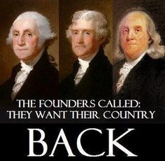 OUR forefathers. They knew best then and now