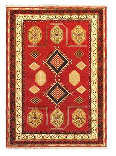 "Hand-Knotted Royal Kazak Rug, Cream/Dark Red, 5' 8"" x 7' 11"", http://www.myhabit.com/redirect/ref=qd_sw_dp_pi_li?url=http%3A%2F%2Fwww.myhabit.com%2Fdp%2FB0118O0HFE%3F"