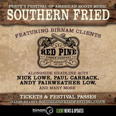 Southern Fried Festival, Perth announce first acts, including Red Pine Timber Co. Tickets & passes: www.horsecross.co.uk/southern-fried-festival
