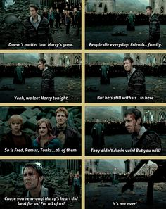 "Neville's speech. I still wish they'd kept the line ""I'll join you when hell freezes over! Dumbledore's Army!"""