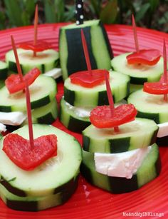 Mad Hatter Cucumber Sandwiches Close Up