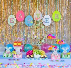 easter party tables | Easter Party Ideas - Oh My Creative