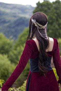Bijoux cheveux medieval