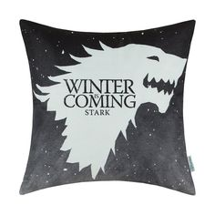 CaliTime Cushion Cover Pillows Shell A Game of Thrones Houses Stark Winter Is Coming 45cm X 45cm: Amazon.co.uk: Kitchen & Home