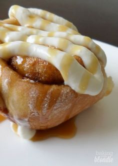 Brown Butter Cinnamon Rolls with Salted Caramel Cream Cheese Frosting