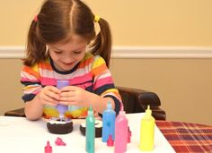 play donuts made of socks, felt, and puffy paint!  This blog is great!