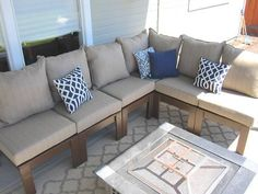 DIY Outdoor Sectional