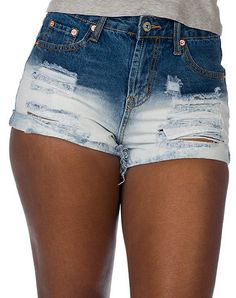 ESSENTIALS WOMENS Blue Clothing / Denim Shorts 0