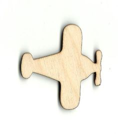 Airplane Laser Cut Out Unfinished Wood Shape Craft Supply