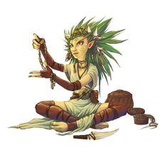 Female Gnome Druid - Pathfinder PFRPG DND D&D 3.5 5th ed d20 fantasy