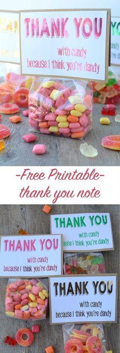 free printable thank you note | NoBiggie.net #hsminc #foilallthethings