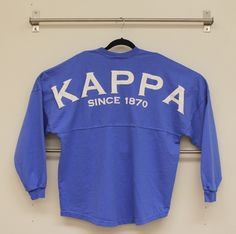 Thanks to Spirit Football Jersey for taking my suggestion into consideration #Kappa Jersey -- Spirit Football Jersey - Spirit Football Jersey J470. Perriwinkle Kappa Since 1870, $39.99 (http://www.spiritfootballjersey.com/spirit-football-jersey-j470-perriwinkle-kappa-since-1870/)