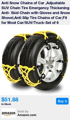 "UNIVERSAL MODES: Universal, it can be applied to all the models of the tire width 6.5""-10.4""/165mm-265mm. This snow chains fit for most Cars, SUV and Trucks * EASY INSTALLATION: with no need to move the vehicle, fast installation and removal in minutes. Simple and effective solution to being stranded and disabled in all types of terrain and adverse conditions. Create a great convenience for you. * GREAT DESIGN: Humanized design of alloy steel, good performance of antiskid,breaking the ice an"