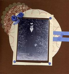 Heritage Scrapbook Layout with picture taken in 1927, in Manitoba, Canada.