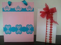 Sacchetti decorati con cartoncino fustellato tipo pizzo