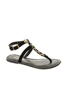 Warehouse Lena Toepost Sandals