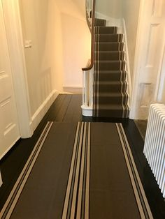 Matching stair runner & hallway rug