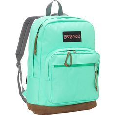 Jansport Right Pack Laptop Backpack ($58) ❤ liked on Polyvore featuring bags, backpacks, accessories, green, jansport, day pack backpack, pocket backpack, jansport backpack and jansport bags