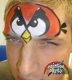 Angry Bird Design by Denise Cold of Painted Party Face Painting…