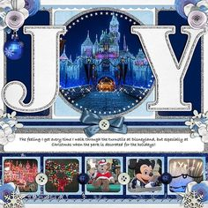 Great Disney Christmas layout!
