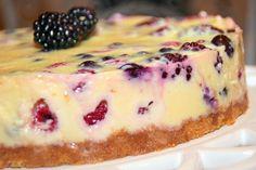 Berry Custard Cake