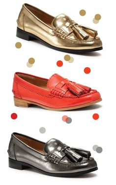 matchbook-coach-legacy-haydee-loafer    Cute shoes, in a cute collage. Love the colored confetti dots.