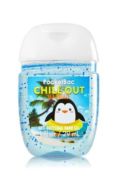 Chill Out - Sea Breeze - PocketBac Sanitizing Hand Gel - Bath & Body Works - Now with more happy! Our NEW PocketBac is perfectly shaped for pockets & purses, making it easy to kill 99.9% of germs when you're on-the-go! New, skin-softening formula conditions with Aloe & Vitamin E to leave your hands feeling soft and clean.