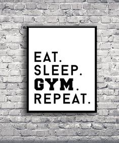 DIGITAL PRINT - Eat Sleep Gym Repeat Motivational Inspo Quote Instant Download…