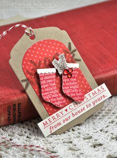 Love Lives Here: Holiday Revisited - Hanging Stockings Gift Tag by Dawn McVey for Papertrey Ink (November 2013)