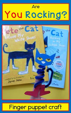Are you rocking? Pete the cat finger puppet craft from Paula's Preschool and…