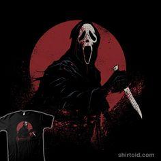 """Night Stalker"" by Ghostface from Scream Horror Posters, Horror Icons, Horror Films, Horror Art, Gothic Horror, Film Scream, Ghostface Scream, Horror Villains, Roman"