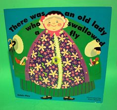 There was an old lady who Swallowed a Fly. Bent text around image, this is seen pretty frequently. Old Children's Books, Vintage Children's Books, Vintage 70s, 1980s Childhood, Childhood Days, Reading Rainbow, School Memories, Vintage School, Books For Teens