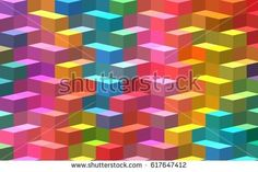 isometric texture colorful bright rainbow abstract background