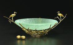 """""""Egret Nest Bowl,"""" glass and bronze, by Georgia Pozycinski and Joseph Pozycinski"""