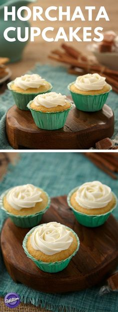Horchata Cupcakes Recipe - f you love the taste of sweet and creamy, sweet horchata, a blend of rice milk and cinnamon, then you are going to love this decadently satisfying cupcake recipe. They capture the same velvety texture and warm spice notes that are popular in this traditional Hispanic beverage. Recipe makes about 30 cupcakes.
