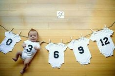 Perfect, cute idea for the latest trend of photos of babies growth by month.